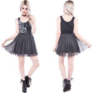Iron Fist Wishbone Tank Tulle Dress